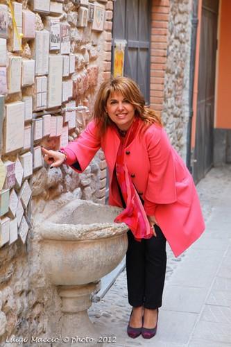 La piastrella di Angelica Cirillo al muretto degli Artisti - Albenga